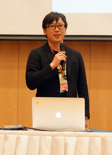 愉快工学股份公司的创立人青木俊介演讲智能机器人的