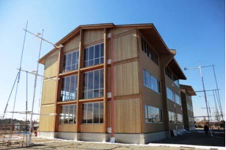 建造外观上能看见木材的建筑是